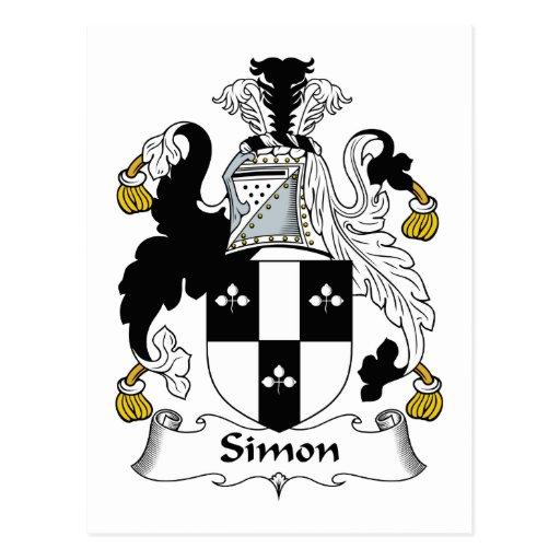 Escudo de la familia de Simon Tarjetas Postales
