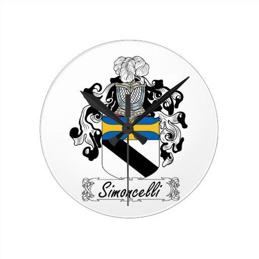Escudo de la familia de Simoncelli Reloj Redondo Mediano