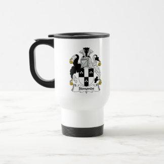 Escudo de la familia de Simonds Taza De Café