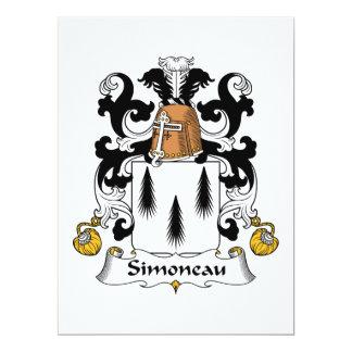 Escudo de la familia de Simoneau