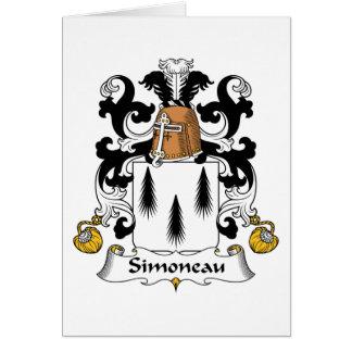 Escudo de la familia de Simoneau Tarjetón
