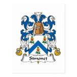 Escudo de la familia de Simonet Postal