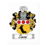 Escudo de la familia de Simoni Tarjetas Postales