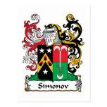 Escudo de la familia de Simonov Postal