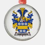 Escudo de la familia de Simonsen Adorno De Navidad