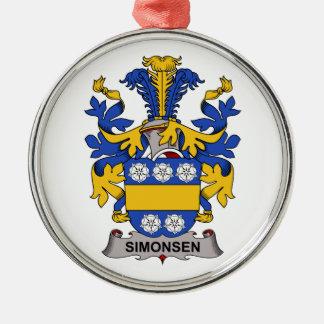 Escudo de la familia de Simonsen Adorno Navideño Redondo De Metal