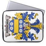 Escudo de la familia de Simonsen Funda Ordendadores
