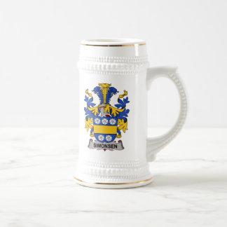Escudo de la familia de Simonsen Jarra De Cerveza