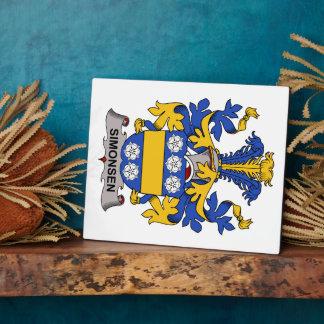 Escudo de la familia de Simonsen Placas Con Foto
