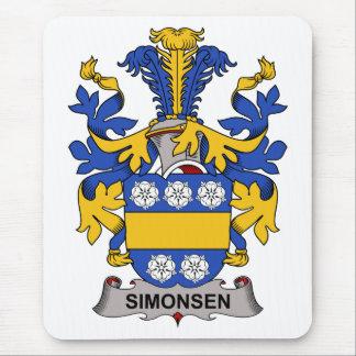 Escudo de la familia de Simonsen Tapetes De Raton