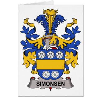 Escudo de la familia de Simonsen Tarjeta De Felicitación