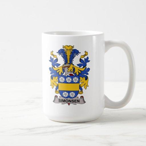 Escudo de la familia de Simonsen Taza