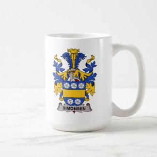 Escudo de la familia de Simonsen Taza Básica Blanca