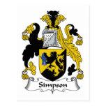 Escudo de la familia de Simpson Postal