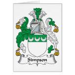 Escudo de la familia de Simpson Tarjeta