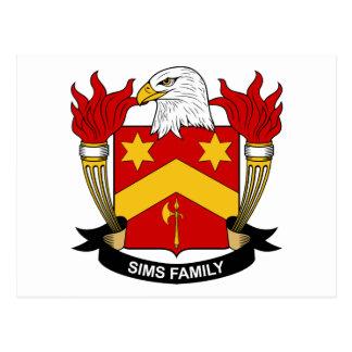 Escudo de la familia de Sims Postales