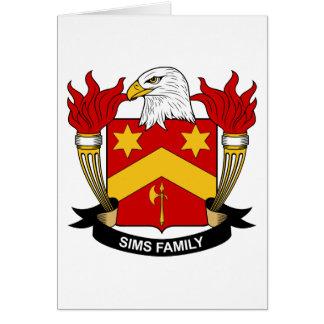 Escudo de la familia de Sims Tarjeta De Felicitación