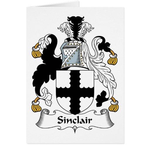 Escudo de la familia de Sinclair Tarjeta De Felicitación
