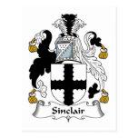 Escudo de la familia de Sinclair Tarjeta Postal