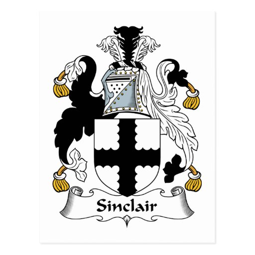 Escudo de la familia de Sinclair Postal