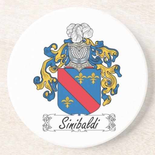 Escudo de la familia de Sinibaldi Posavasos Cerveza