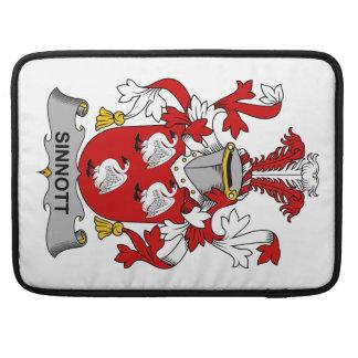 Escudo de la familia de Sinnott Fundas Para Macbook Pro