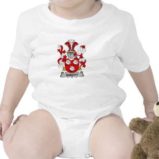Escudo de la familia de Sinnott Traje De Bebé