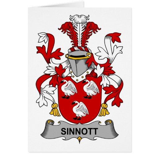 Escudo de la familia de Sinnott Tarjeta De Felicitación