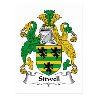 Escudo de la familia de Sitwell Tarjetas Postales