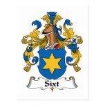 Escudo de la familia de Sixt Tarjeta Postal