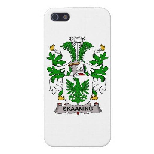 Escudo de la familia de Skaaning iPhone 5 Fundas
