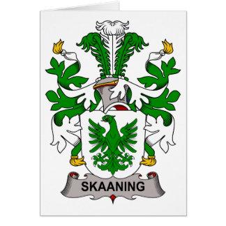 Escudo de la familia de Skaaning Felicitaciones