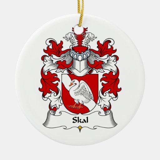 Escudo de la familia de Skal Adornos De Navidad