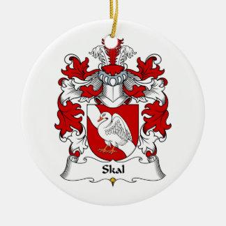 Escudo de la familia de Skal Adorno Redondo De Cerámica