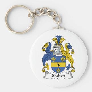 Escudo de la familia de Skelton Llaveros Personalizados