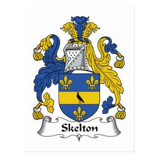 Escudo de la familia de Skelton Tarjeta Postal
