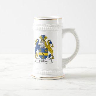 Escudo de la familia de Skelton Jarra De Cerveza