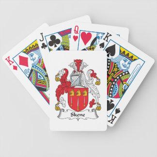 Escudo de la familia de Skene Baraja Cartas De Poker