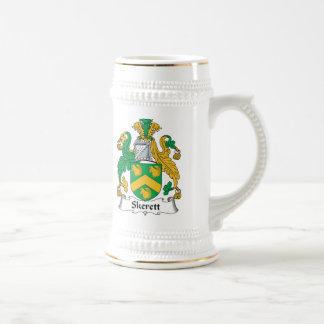 Escudo de la familia de Skerett Jarra De Cerveza