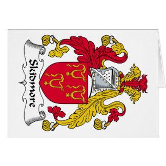 Escudo de la familia de Skidmore Tarjeta De Felicitación