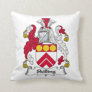 Escudo de la familia de Skilling Cojines