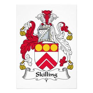 Escudo de la familia de Skilling Invitacion Personal