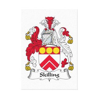 Escudo de la familia de Skilling Lona Estirada Galerias