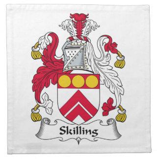 Escudo de la familia de Skilling Servilletas