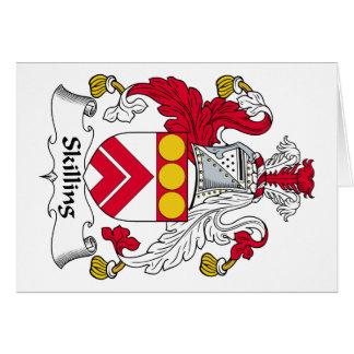 Escudo de la familia de Skilling Tarjeton