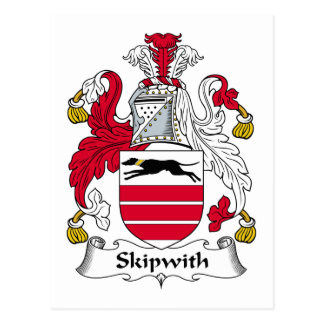 Escudo de la familia de Skipwith Postal