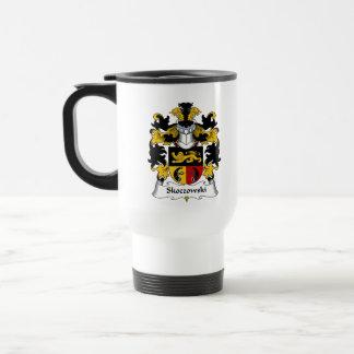 Escudo de la familia de Skoczowski Tazas De Café