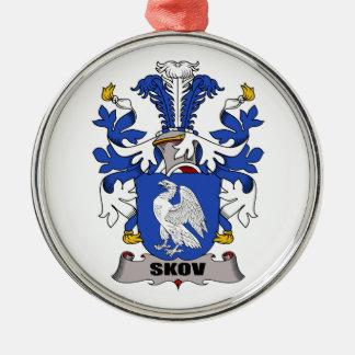 Escudo de la familia de Skov Adorno Redondo Plateado