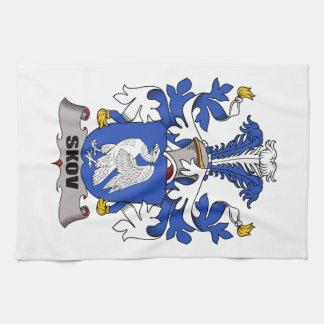 Escudo de la familia de Skov Toallas De Mano