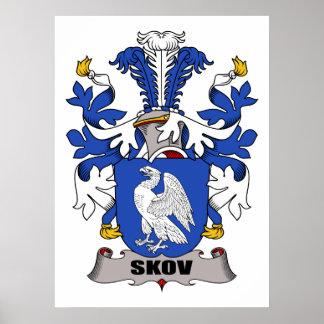 Escudo de la familia de Skov Póster